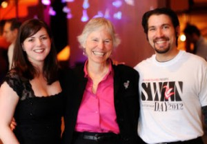 Tressa Glover, Martha Richards, and Don DiGiulio Celebrate SWAN Day Pittsburgh 2012  (Photo: Katelyn Petraitis)
