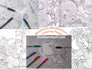 Wellness Meditation Coloring Pages