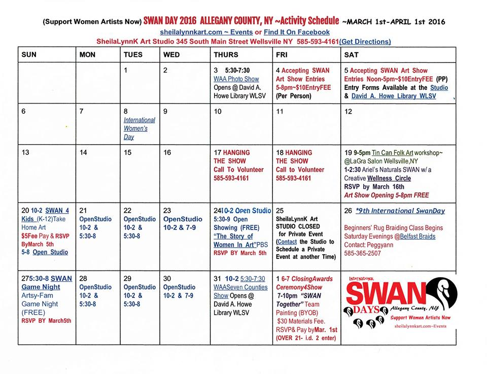 SWAN Days Allegany Co. Calendar