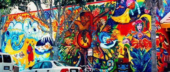 Culture at the Crossroads mural by Susan Cervantes received Hotel Tax funds.