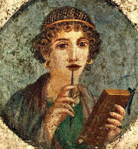 The Woman Poet (Pompeii, 70 AD)