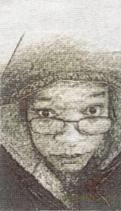 Self-portrait with 22,176 stitches