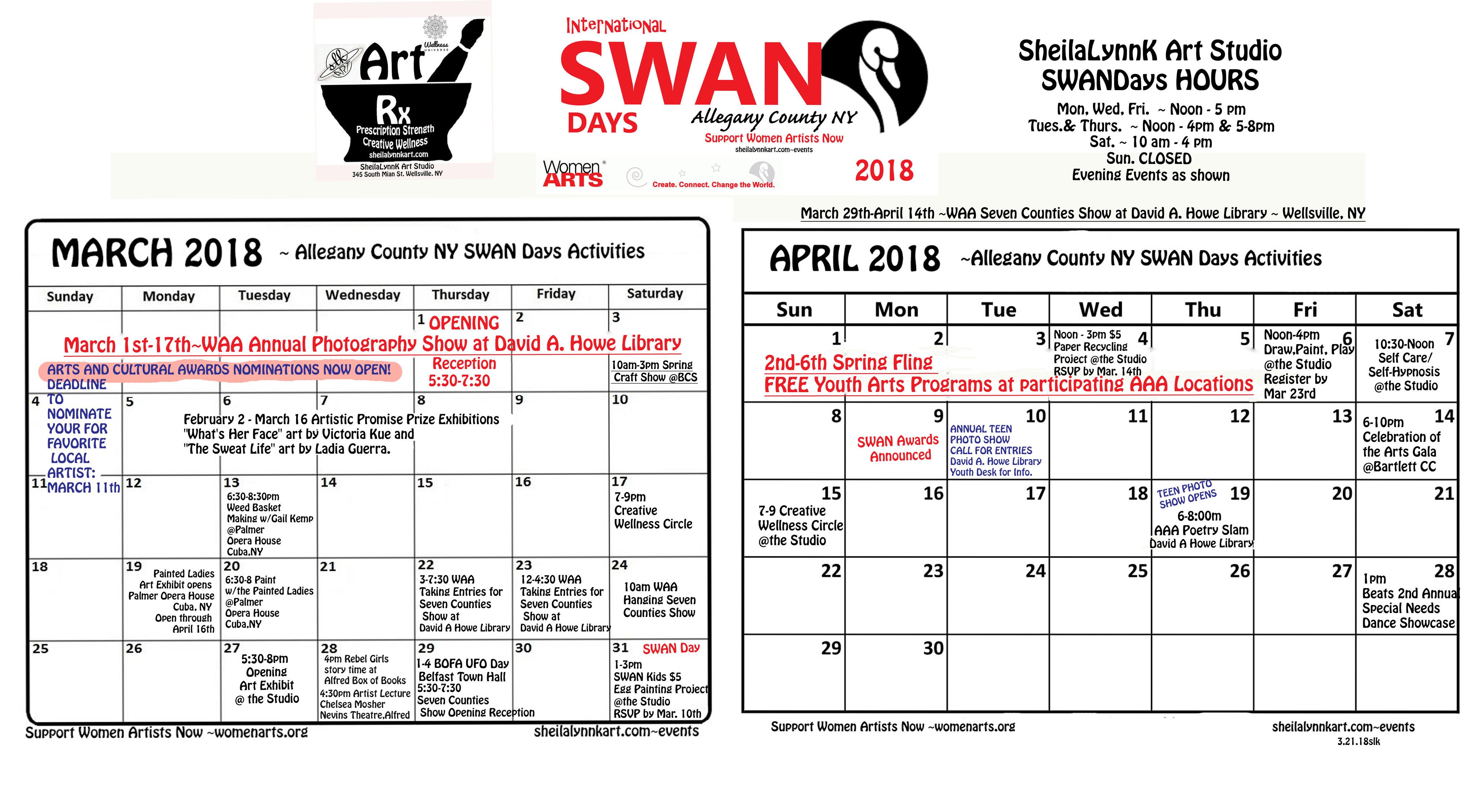 SWAN Days Allegany County NY 2018 - WomenArts