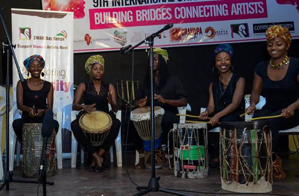 Montra Percussionists at SWAN Day Kenya