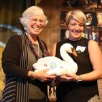 Martha Richards passes SWAN Day to Melinda Pfundstein, StateraArts